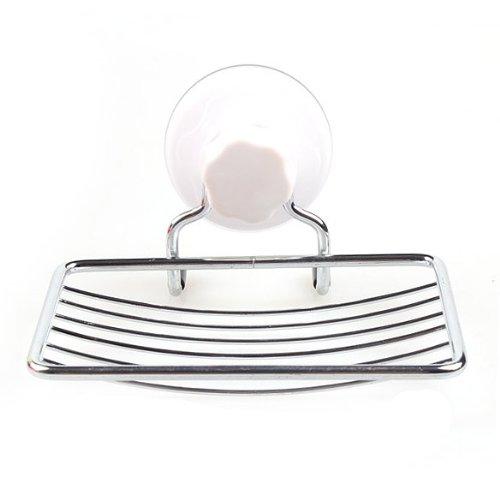 Reixus (TM) ventouse savon Porte en plastique et du savon en mšŠtal vaisselle Plateau Accessoires de salle de bain