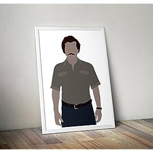 Narcos inspiriert Poster - Pablo Escobar drucken - Alternative TV/Movie Prints in verschiedenen Größen (Rahmen nicht im Lieferumfang enthalten)