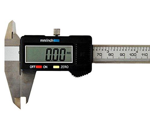 Digitaler Messschieber bis 150mm Digitale Schieblehre Messgerät Etui LCD Anzeige
