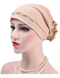 luosun Sombrero Perla Cubierta Abrigo quimioterapia Turbante Gorro Gorro 83068f7ccdd