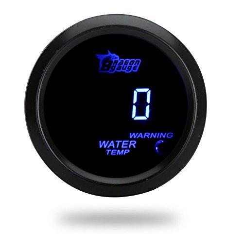 Kkmoon sensore digitale della temperatura dell'acqua, per auto; 52 mm 2 pollici, lcd 40~120 gradi celsius; con spia; colore: nero