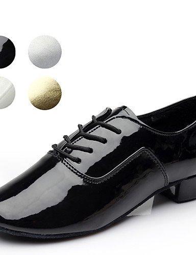 ShangYi Scarpe da ballo - Non personalizzabile - Uomo - Latinoamericano / Salsa - Tacco spesso - Eco-pelle - Nero / Bianco / Argento / Oro Black