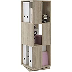 FMD Möbel 291-001 Drehregal Tower circa 34 x 108 x 34 cm, eiche