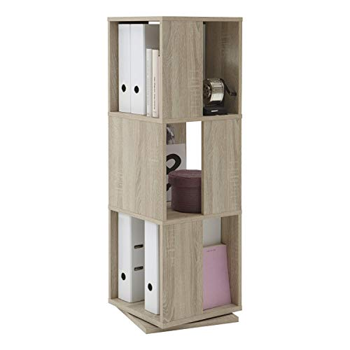 FMD Möbel 291-001 Drehregal Tower circa 34 x 108 x 34 cm, eiche -