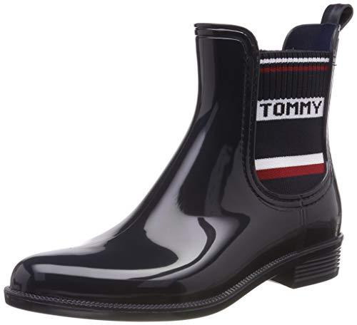 Tommy Hilfiger Tommy Elastic Rain Boot, Botas de Agua para Mujer, Azul (Midnight 403), 38 EU