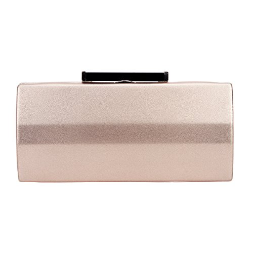 Bonjanvye Polygon PU Leather Purse and Handbag for Women Evening Bag Clutch Rose Gold (Pro Türkis-fall Macbook)
