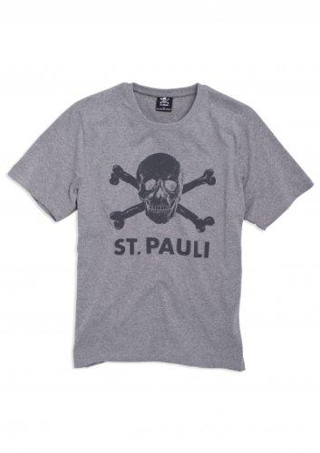 ST. Pauli T-shirt grigio con teschio Grigio - grigio