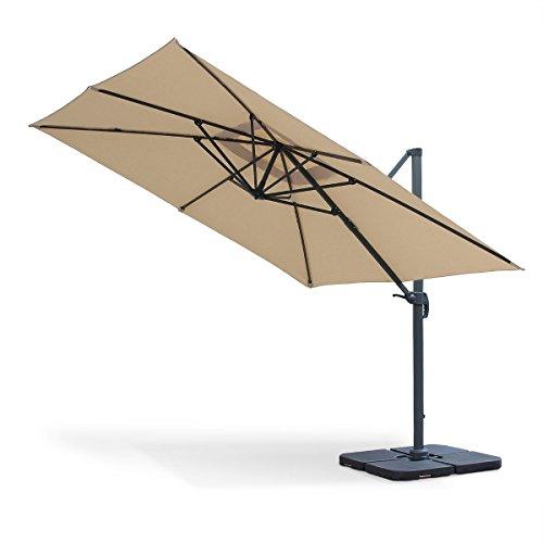 Alices-Garden-Parasol-dport-carr-3-x-3m-haut-de-gamme-Falgos-Beige-Parasol-excentr-inclinable-rabattable-et-rotatif–360