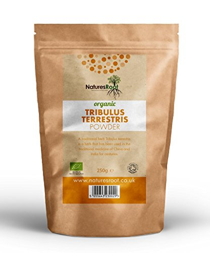Organic Tribulus Terrestris Powder 250g by Natures Root - Certified Organic by the Soil Association...