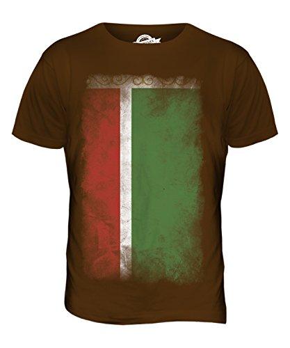 CandyMix Tschetschenien Verblichen Flagge Herren T Shirt Braun