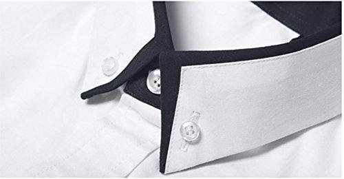 Icegrey Camicia Casual - Vestito Modellante - Maniche Lunghe - Uomo White