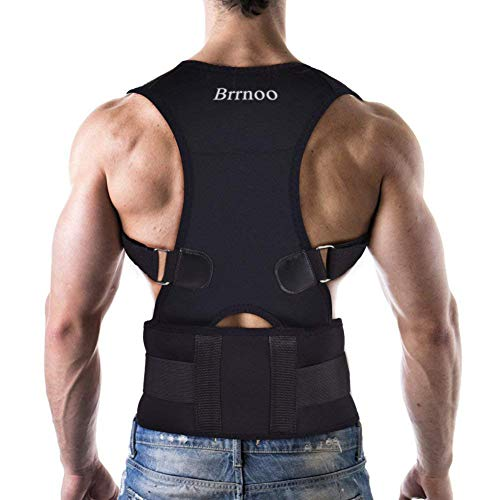 Corrector de Postura con soporte recto Ultrafino respirable Vendaje de elástico en la cintura del hombro para hombres y mujeres (circunferencia de la cintura de 80 cm a 120 cm) (S)