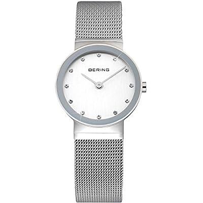 Bering Time Classic - Reloj de cuarzo para mujer, con correa de acero inoxidable, color plateado de Bering Time