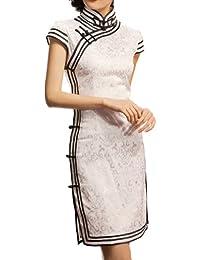 Traje Chino Cheongsam Qipao Vestidos asiaticos de coctel para boda #101