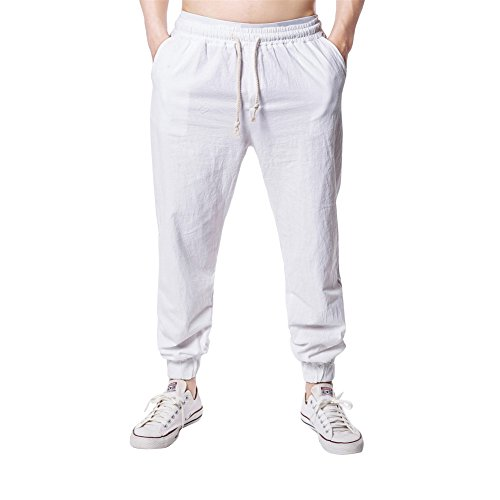 GUOCU Men Bottoms Joggers Lounge Pants Tracksuit Jog Bottom Zip Pockets