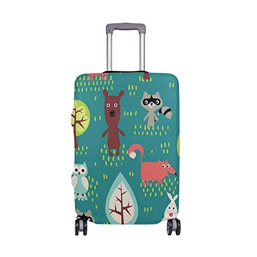 Funny Print Tropical Fruit Watermelon Pineapple Travel Luggage Cover Suitcase Protector Fits 23-26 Inch M -