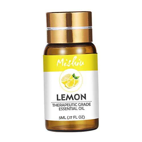 P Prettyia Bottiglia Di Olio Essenziale Aromaterapia Massaggi Gambe Schiena Collo Accessori - Limone
