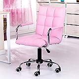 Huifang Corrective chair QFFL jiaozhengyi Drehstuhl, Home Office Computer Stuhl Drehstuhl Rückenlehne Swivel Stuhl Boss Stuhl Student Stuhl (Farbe : Pink)