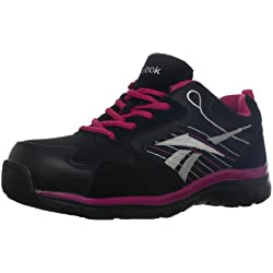 Reebok Work Women s Anomar RB454 Athletic Safety Shoe Black/Pink 9 C/D US