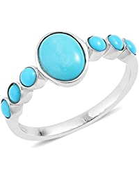Sleeping Beauty Turquoise Ring in Platinum Overlay Sterling Silver 1.575 Ct