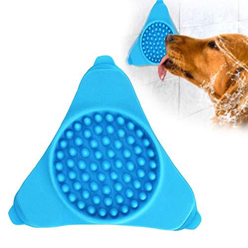 Fressnapf für Hunde, langsame Fütterung und Ablenkung von Hunden, interaktives Lecken-Pad mit Saugnapf für Dusche und Hund (Hund, Slow Feeder Metall)