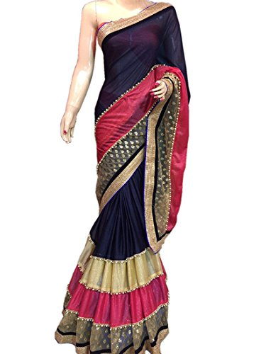 Dazzel Georgette Saree (Df_Mr-05_Multicolour)