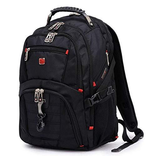 Preisvergleich Produktbild Reise-Ausrüstung,  Schulter-Computer-Tasche 8112 Gezeiten Männlich Business-Reisetasche Große Kapazität 19-22In Computer Rucksack Qinf Exklusiv, Black2, 49Cm*38Cm*23Cm