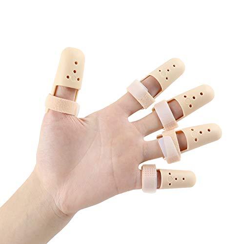 Demarkt Fingerschiene perforiertes Design mit Premium Stabilität Finger Splint Hautfarbe 5 Stück -