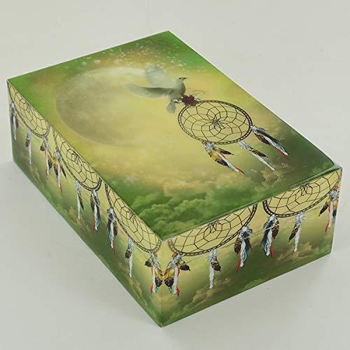 Prezentscom Traumfänger Peace-Box aus Holz mit Deckel für Schmuck Gothic Pagan Fantasy Geschenk