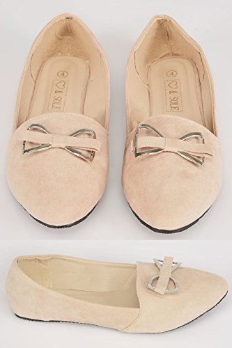 Yours Clothing, Ballerine donna Nude