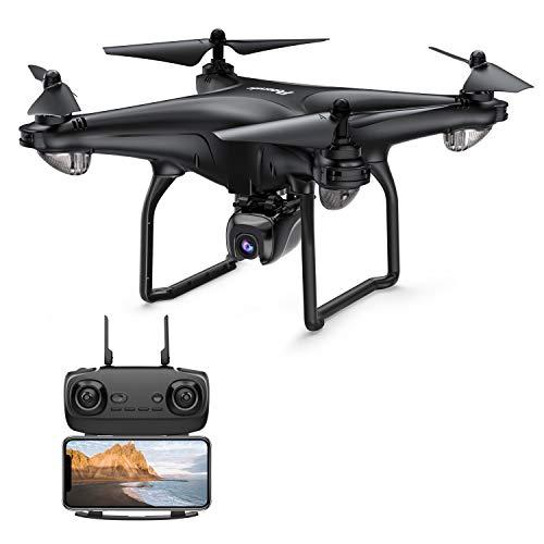 Potensic D58 GPS Drohne RC Quadrocopter mit 1080P Kamera 5G WiFi FPV Live Übertragung, Automatisch Rückkeh, Follow Me, Orbit-Modus, 18 Minuten Flugzeit