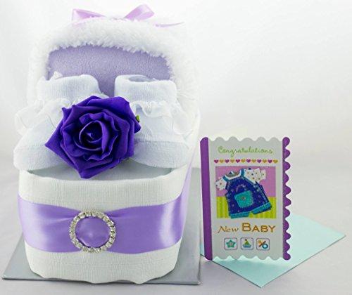 Gâteau de couches à langer Adorable Berceau Couffin bébé garçon fille unisexe Bébé Douche