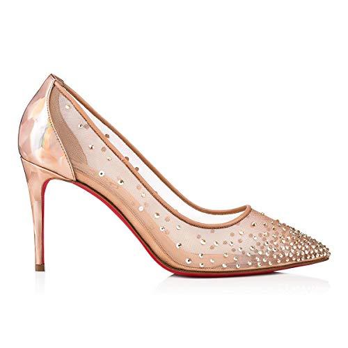 d2cea1d0d Christian Louboutin Mujer 1190402Pk5s Rosa Poliéster Zapatos Altos