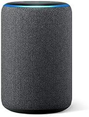 Amazon Echo (3ème génération) Reconditionné Certifié, Enceinte connectée avec Alexa, Tissu anthracite