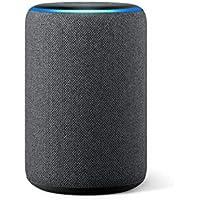 Der neue Amazon Echo (3. Generation), smarter Lautsprecher mit Alexa, Anthrazit Stoff
