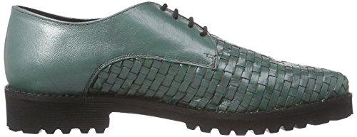 XYXYX  Lace Up, Chaussures de ville à lacets pour femme Vert - Grün (billiarise)