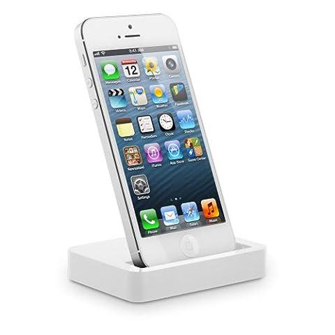 IMOOVE - Socle Base Station d'accueil USB synchronisation et charge pour Apple iPHONE 5 / iPod touch 5e génération / iPod nano 7e