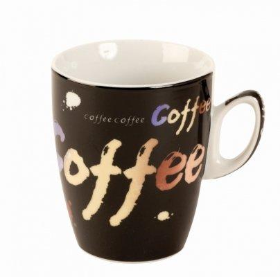 Tolles Kaffeetassen Set Coffee Schwarz 4er-Set in einer PVC Geschenkbox Höhe 9 cm Breite 24 cm - 2