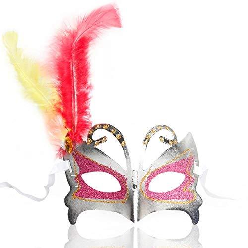 QTJKH Horror Maske Venezianische Maskerade Halbes Gesicht Maskerade Masken Prinzessin HalloweenAnonym Hochzeit Venezianische Maske @ As_Photo