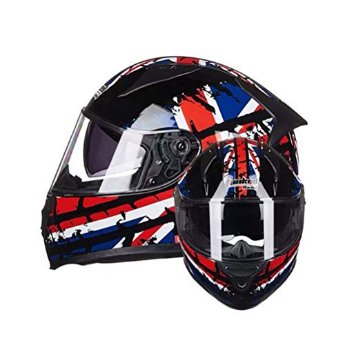Adult Double Lens Anti-Fogging Motorradhelm Flip Up Full Face Motorradhelme für Outdoor-Aktivitäten,Moto Motocross Sicherheitskappen in Allen Jahreszeiten
