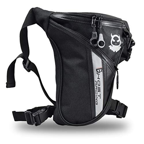 Fansport Marsupio Gamba Marsupio Moto da Gamba Drop Leg Bag per Uomini Borsa da Gamba Marsupio Cosciale Unisex per Arrampicata Escursionismo Equitazione Moto Bici Confezione