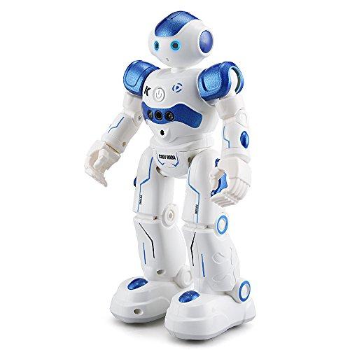 te Ferngesteuerter Roboter, Spielzeugroboter mit Programmier/Gestenerkennung/Singen und Tanzen Funktion, Robotik Kit Spielzeug Geschenk für Kinder (Blau) (Halloween Musik Wiederholen)