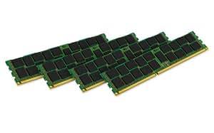 Kingston KVR16R11S4K4/32I RAM 32Go 1600MHz DDR3 ECC Reg CL11 DIMM Kit (4x8Go) 240-pin, Certifié Intel