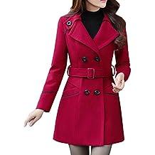 Manteaux Femme Hiver Chaud Slim Gilet Bouton Épais Blouson Casual Parkas  Trench Coat Veste Épaise avec 65677c5e785