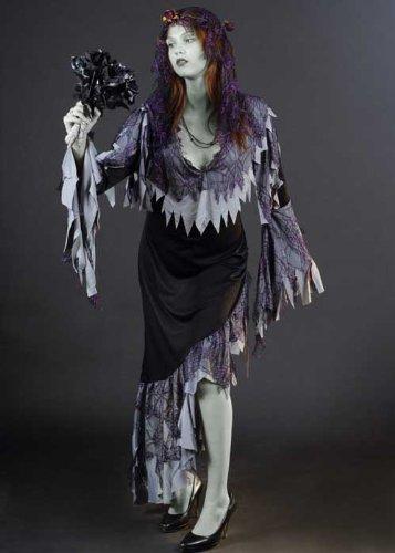 Damen Zombie Corpse Bride Kostüm (Woman's Corpse Bride Kostüm)