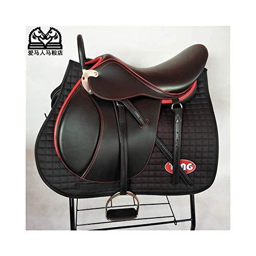 zdw Außen Yageer Maan Schwarz Pferdesattel Pferdeschutz Sweat Pad Reiten Mat Ritter Bowden Schabracke - Reiten Numnah Equestrian Comfort Quilting Pvc,* L