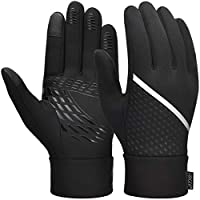 VBIGER Unisex Running Gloves Touch Screen Anti-slip Thermal Sports Winter Gloves with Updated Thickend Fleece Lining for Cycling Running Hiking Driving, S