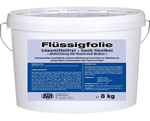 Dichtfolie flüssig Flüssigfolie Dusche Bad Duschabdichtung Fliesenabdichtung Hoch Flexibel 8 kg