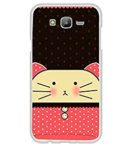 Cute Cat 2D Hard Polycarbonate Designer Back Case Cover for Samsung Galaxy On5 (2015) :: Samsung On 5