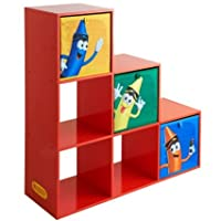 Crayola Kids 6 Storage Cubes And 3 Pull-1-2-3 Shelving UniT